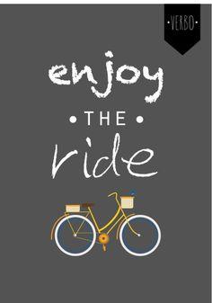 Poster enjoy the ride www.verbocriacao.com