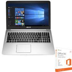 Bộ Laptop Asus K501LB-DM077D - 15.6inch (Xanh Đen) và Phần mềm office 365 bản quyền
