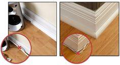 Floor trim that hides cables