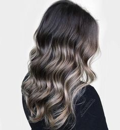 Dark Hair With Subtle Cool-Toned Highlights