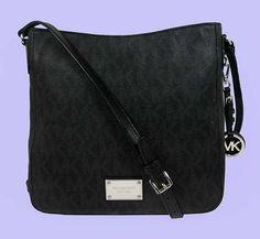 MICHAEL KORS JET SET MK Logo Leather MD Shoulder Cross-Body Bag Msrp $248.00