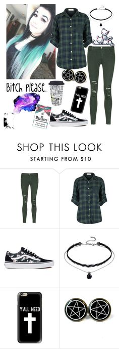 """Marlboro."" by unicornpotter ❤ liked on Polyvore featuring J Brand, Vans and Casetify"