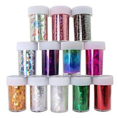 EVERMARKETTM 12PCS Laser Foil Nail Decorations Starry Nail Stickers No112120x4x01cm -- You can find more details by visiting the image link. Note:It is Affiliate Link to Amazon.