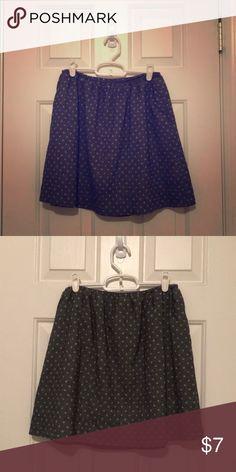 f82feb80f47e Loft Winter Skirt Loft skirt with lining in dark grey with light grey polka  dot pattern