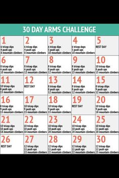 Arm workout; perfect for me since I can't do push-ups to save my life. DAY ONE June 27th! Too keep track