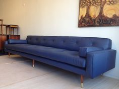 Danish Mid Century Modern Leather Sofa by DenMobler on Etsy