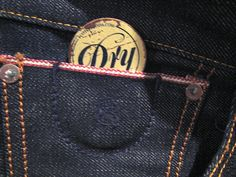 Detail on My new Scotch and Soda Dry Selvedge (selvage)