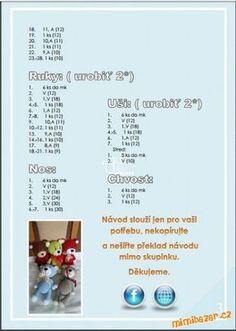Háčkovaní medvídci Barevňáčci | Mimibazar.cz Crochet Teddy, Crochet Patterns Amigurumi, Little Baby Girl, Bear Toy, Baby Girl Gifts, Stuffed Toys Patterns, Crochet Animals, Digital Pattern, Flower Patterns