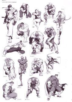 Street Fighter ✤ || CHARACTER DESIGN REFERENCES | キャラクターデザイン | çizgi film • Find…