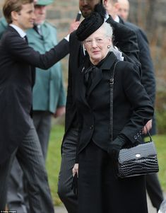 Queen Margrethe of Denmark offered a smile as she arrived at the funeral