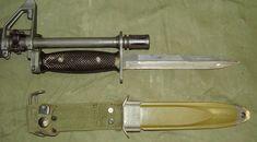 M7 bayonet on M16 assault rifle