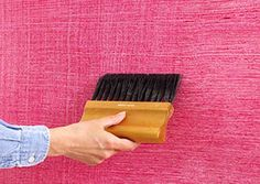 using a brush or broom, you can create texture to your freshly painted walls