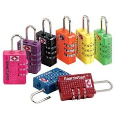 Set of 2 SearchAlert Combination Locks at TravelSmith Outfitters.