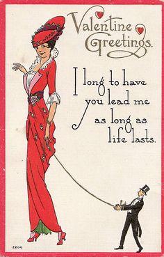 hoodoothatvoodoo:    Vintage Valentine Postcard