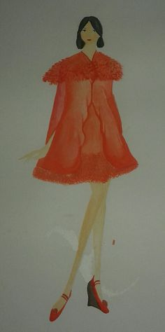 6th. a still same project on final task. I wanted it to be peach but it's so hard ㅠㅠ. Not of all, but one of materials that I use is furs .. #fashiondesign #cape #furs