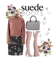 """""""Suede Boots"""" by ana3blue ❤ liked on Polyvore featuring Pier 1 Imports, PLANT, Acne Studios, Gianvito Rossi and MICHAEL Michael Kors"""