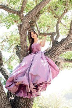 Rowan Blanchard in an Oscar de la Renta Fall 2016 dusty rose gown featured in Glamour
