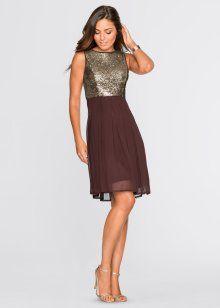 MUST HAVE: Kleid, BODYFLIRT, braun gemustert