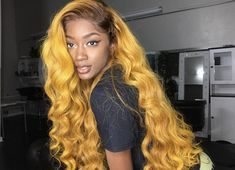 virgin human hair wig with baby hair and natural hair line Type of wigs:Front lace lace wig and full lace wig Hair color:As shown in the pic Texture:As shown in the pic Weave Hair Color, Hair Colour, Curly Hair Styles, Natural Hair Styles, Catty Noir, Brazilian Hair Weave, Yellow Hair, Yellow Black, Hair Laid