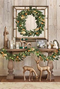 Drape this Martha Stewart Living™ Gilded Pear Garland around your home for a bright holiday look!