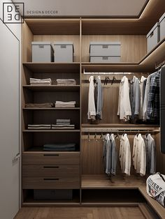 DEDE/Fusion apartment on Behance Walk In Closet Design, Bedroom Closet Design, Closet Designs, Wardrobe Internal Design, Wardrobe Design, Wardrobe Room, Wooden Wardrobe, Bedroom Cupboard Designs, Bedroom Cupboards