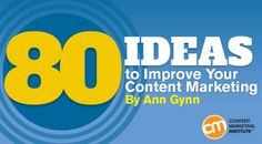 80 Ideas to Improve Your Content Marketing