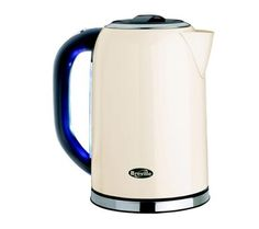retro style cream kitchen appliances BREVILLE VKJ187 Electric Kettle - Cream Stainless Steel