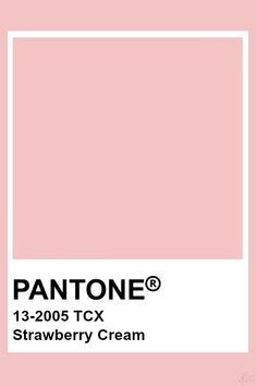 Pantone Strawberry Cream