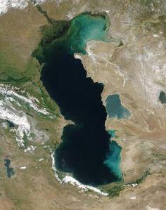 Caspian Sea - http://www.pilotguides.com/tv_shows/globe_trekker/shows/specials/round-the-world.php