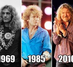 Robert Plant 1969, 1985 & 2010.
