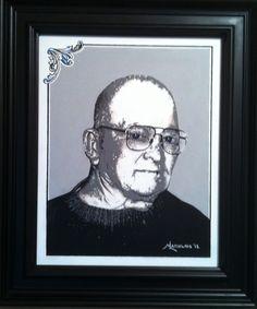 """John J. Latiolais Sr."" - Original hand painted 16""x20"" acrylic portrait on canvas. www.ArtByLatiolais.com"