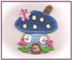 This post was discovered by Atölye Minimo. Discover (and save!) your own Posts on Unirazi. Crochet Fairy, Crochet Home, Cute Crochet, Crochet Crafts, Crochet Flowers, Crochet Projects, Crochet Applique Patterns Free, Crochet Motifs, Baby Knitting Patterns