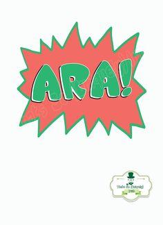 Ara Irish slang Irish Poster Irish Colloquialism by ThatsSoIrish