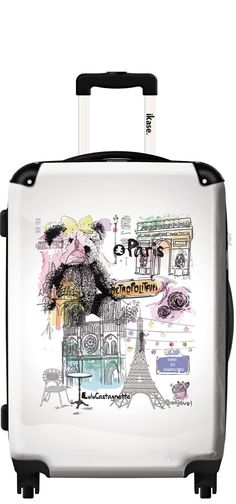 Suitcase Lulu Castagnette in Paris ,Carry on 20 inches,Harside Spinner, Multicolor Global Warming Issues, Book Cheap Flights, Paris, Weekend Trips, Road Trip, Travel, Suitcases, Bedroom Ideas, Usa
