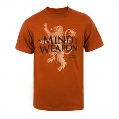 Game Of Thrones My Mind Is My Weapon T Shirt Gameofthrones Lannister