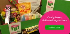 I've recently been looking into monthly subscription boxes. Here's a fun canadian one - projectcandybox. Delivers an assortment of candy and chocolate straight to your door!