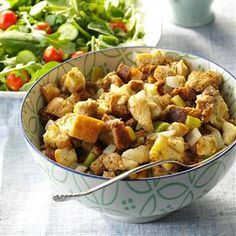 Stuffing from the Slow Cooker Recipe -If you're hosting a big Thanksgiving dinner this year, add this simple, slow-cooked stuffing to your menu to ease  entertaining. This recipe comes in handy when you run out of oven space at large family gatherings. I use it often. —Mrs. Donald Seiler, Macon, Mississippi