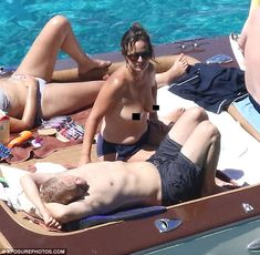 Keeping it casual:Jade Jagger showed she likes to keep things more low-key as she enjoyed a relaxing boat trip around Formentera with her husband Adrian Fillary on Monday