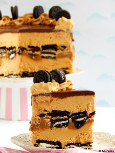 Torta oreo helada: Miicakes Frozen Desserts, Frozen Treats, Chocolates, Frozen Custard, Cheesecake, Buttercream Recipe, Oreo Dessert, Cookies And Cream, Sweet Bread