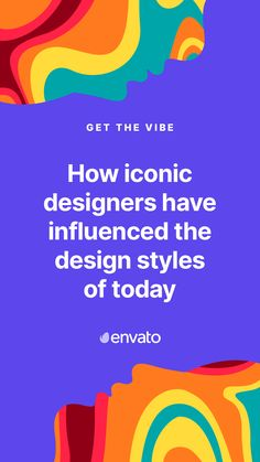 The work of iconic designers, past and present, has a huge influence design trends and movements. Head to our blog, where we take a look at the icons who have made a permanent mark on design.