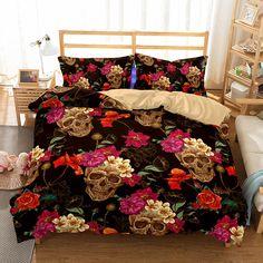 3D Art Pattern Skull Printed 10 Bedding Sets/duvet cover set Duvet Bedding Sets, Comforter Cover, Luxury Bedding Sets, Dorm Bedding, Duvet Cover Sets, Modern Bedding, Black Bedding, Coastal Bedding, Bedroom Sets