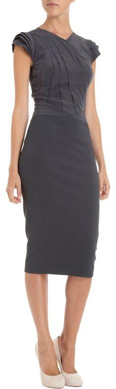 Zac Posen Pleated Bodice Dress at Barneys.com