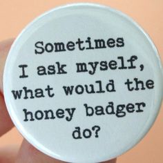 The honey badger doesn't give a.....