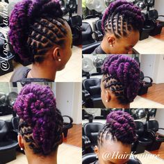 Locs and color Dreads Styles For Women, Curly Hair Styles, Natural Hair Styles, Dreadlock Hairstyles, Cool Hairstyles, Dreadlock Styles, Locs Styles, Updo Styles, Loc Updo