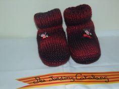 Chaussons en Laine rouge, pour le Canapé ou sous la Couette... : Chaussures par des-jardins-catalans