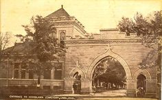 Lima,OH. The Entrance to Woodlawn Cemetery  1919