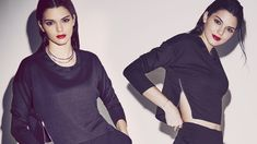 Kendall Jenner wears sports a cropped sweater for Penshoppe holiday 2015 campaign Photoshoot