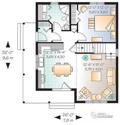 Détail du plan de Maison unifamiliale W3507