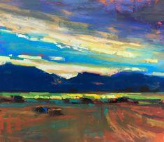 Susan Mayfield, Hayfield September, pastel, 8 x 10.