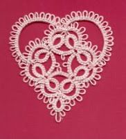 Tatting: We make lace with lots of little knots!: Valeire Square Teardrop & Heart